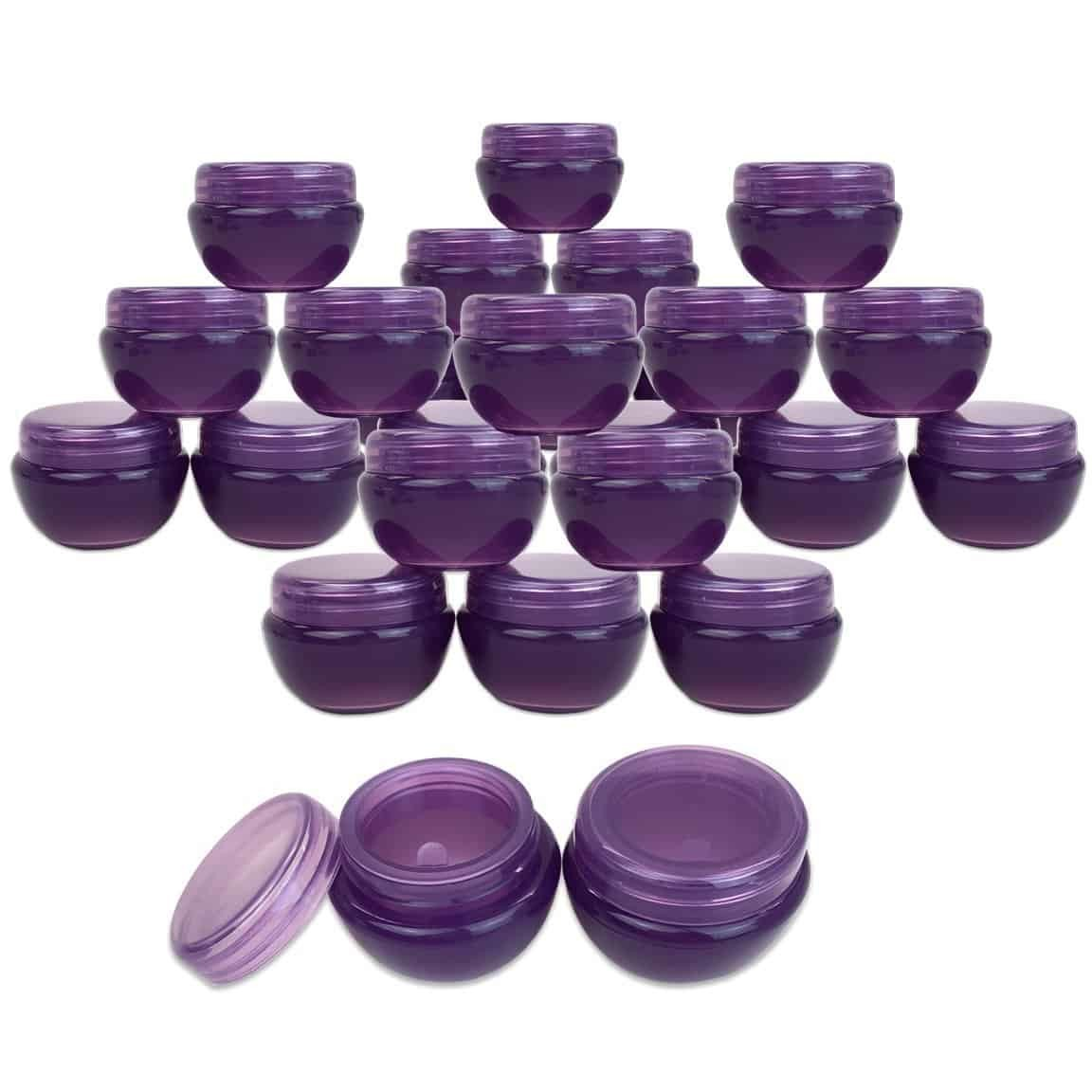purple lip balm container